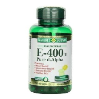 Nature's Bounty Vitamin E Pure d-Alpha (400 IU), 50 softgels