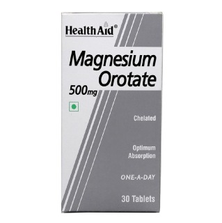 HealthAid Magnesium Orotate (500 mg),  Unflavoured  30 tablet(s)