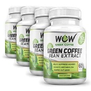 WOW Green Coffee Bean Extract Pack of 4,  60 veggie capsule(s)