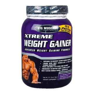Big Muscles Xtreme Weight Gainer,  2.2 lb  Chocolate