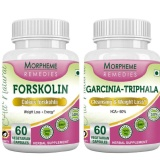Morpheme Remedies Garcinia Cambogia Triphala + Forskolin,  120 Capsules