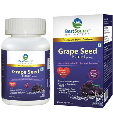 BestSource Nutrition Grape Seed Extract (250mg),  60 veggie capsule(s)