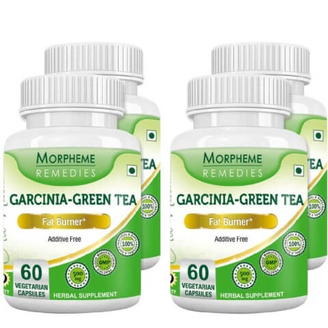 Morpheme Remedies Garcinia-Green Tea (500 mg),  4 Piece(s)/Pack  Unflavoured