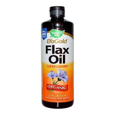 Nature's Way EFAGold Flax Oil Organic,  0.47 L