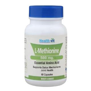 Healthvit L-Methionine (500 mg),  60 capsules