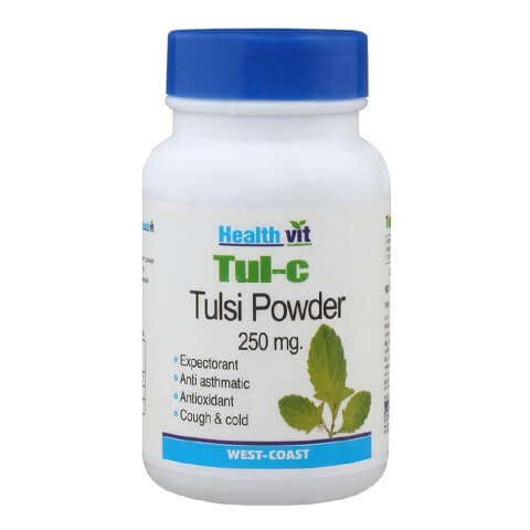 Healthvit Tul-C Tulsi powder (250mg),  60 capsules