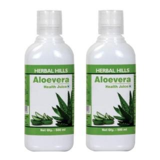 Herbal Hills Aloevera Health Juice (Combo),  0.5 L  Natural