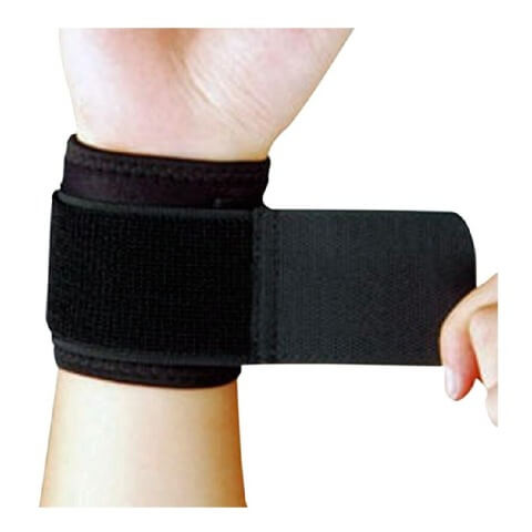 B Fit USA Wrist Support (326),  Black  Free Size