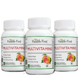 Health First Multivitamins (Pack Of 3),  Unflavoured  60 Veggie Capsule(s)