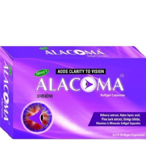 Shrey's Alacoma (Pine Bark Extract),  30 softgels