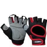 KOBO Gym Gloves (WTG-03),  Red & Black  Small