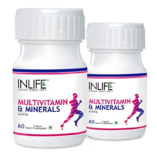 INLIFE Multivitamin & Minerals (Pack of 2),  Unflavoured  60 tablet(s)