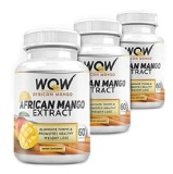 WOW African Mango (Pack Of 3),  60 Capsules