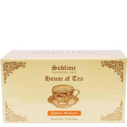 Sublime House of Tea Green Tea,  25 Piece(s)/Pack  Jasmine Mandarin