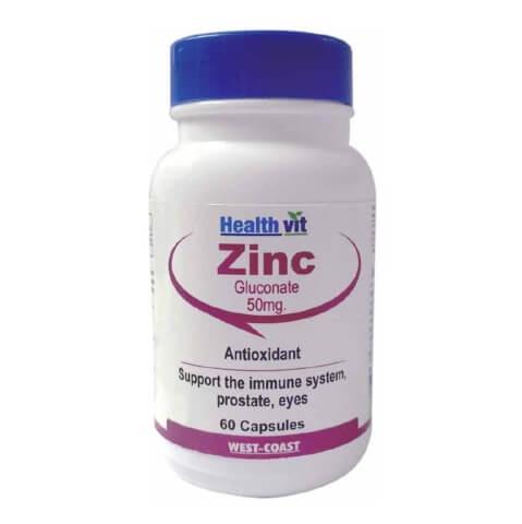 Healthvit Zinc Sulphate 50mg,  60 tablet(s)