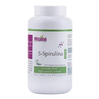 Zenith Nutrition 5-Spirulina (500mg),  200 capsules