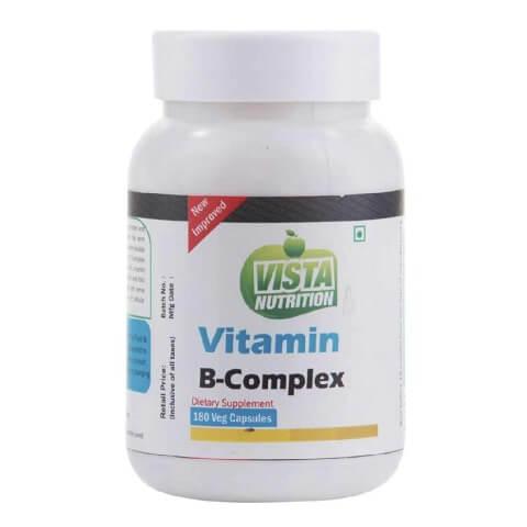 Vista Nutrition Vitamin B-Complex,  Unflavoured  180 capsules