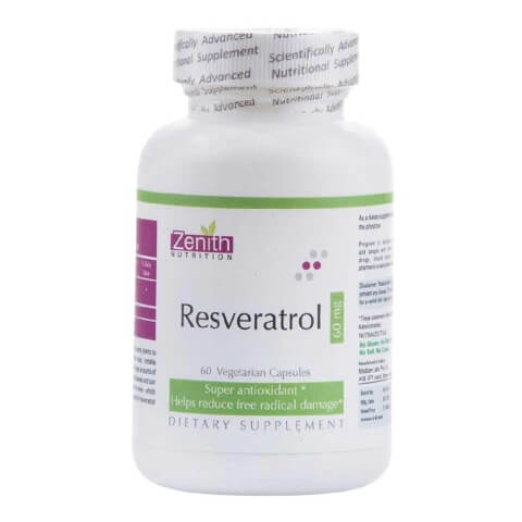 Zenith Nutrition Resveratrol (60 mg),  60 capsules