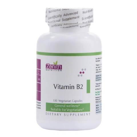 Zenith Nutrition Vitamin B2,  Unflavoured  100 veggie capsule(s)