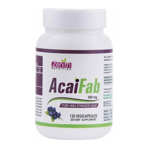 Zenith Nutrition AcaiFab (500mg),  120 veggie capsule(s)  Unflavoured