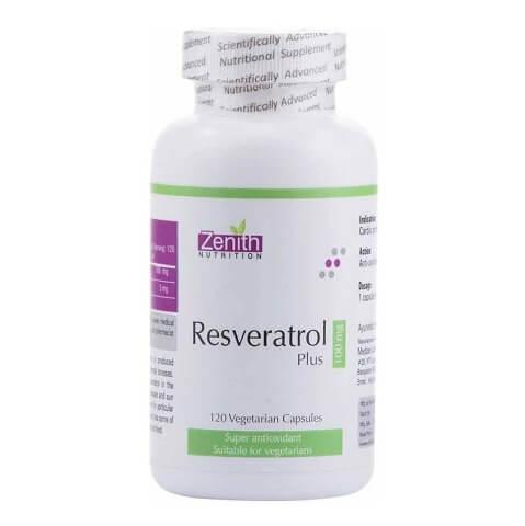 Zenith Nutrition Resveratrol Plus (100 mg),  120 capsules