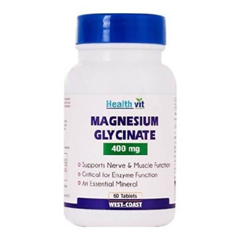 Healthvit Magnesium Glycinate (400 mg),  Unflavoured  60 tablet(s)