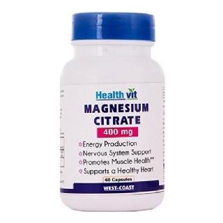 Healthvit Magnesium Citrate (400 mg),  Unflavoured  60 capsules