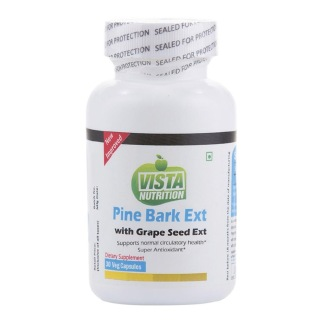 Vista Nutrition Pine Bark Ext with Grape Seed Ext,  30 capsules