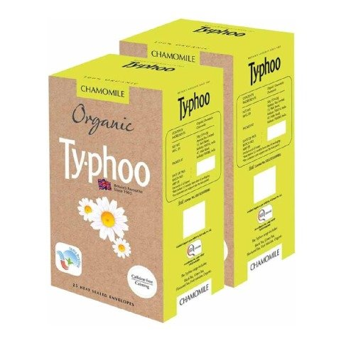 Typhoo Organic Tea, Camomile 25 Piece(s)/Pack - Pack of 2