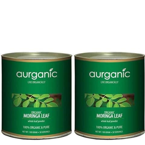 Aurganic Moringa Leaf, 100 g - Pack of 2