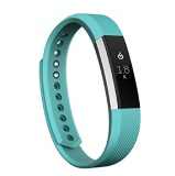 Fitbit Alta Fitness Tracker,  Small (Silver/Teal)