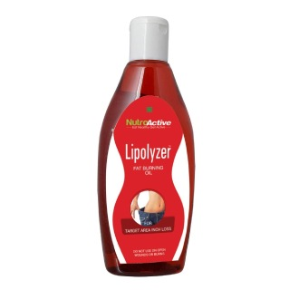 NutroActive Lipolyzer Fat Burning Oil, 275 ml for Target Area Inch Loss