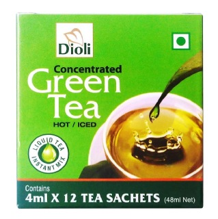 Dioli Concentrated Green Tea,  12 sachets/pack  Natural