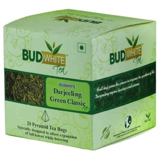 Budwhite Darjeeling Green Classic Tea,  20 Piece(s)/Pack  Natural