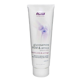 Now Glucosamine MSM & Arnica Liposome Lotion,  237 ml