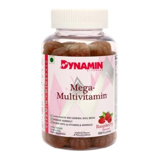 Dynamin Mega Multivitamin,  Rasberry  100 gummies