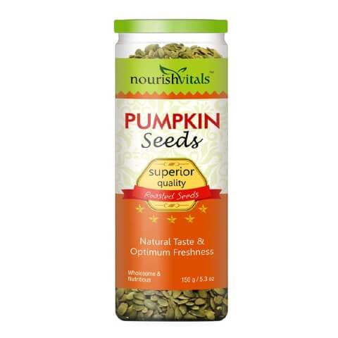NourishVitals Roasted Pumpkin Seeds,  Natural  0.150 kg