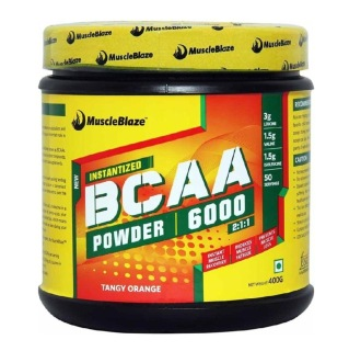 MuscleBlaze BCAA 6000 SPL,  0.88 lb  Tangy Orange (50 Servings)