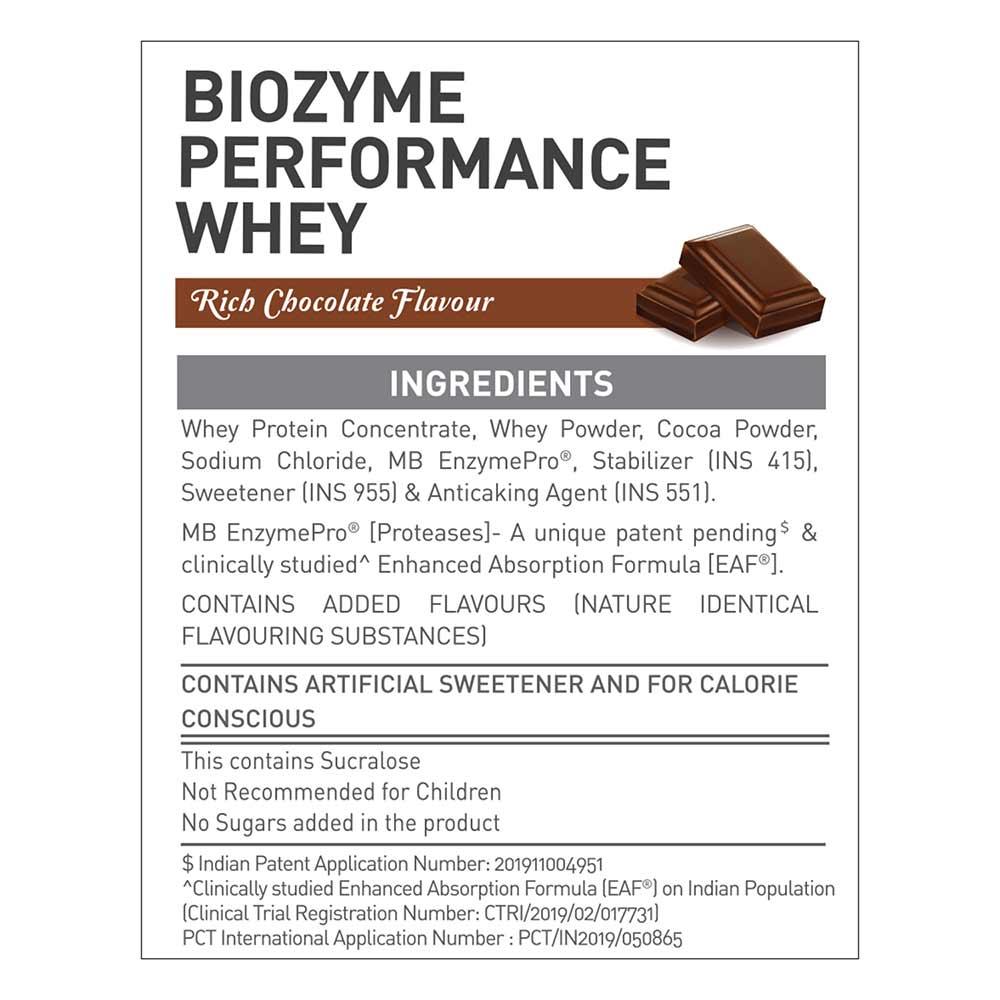 8 - MuscleBlaze Biozyme Performance Whey,  8.8 lb  Rich Chocolate