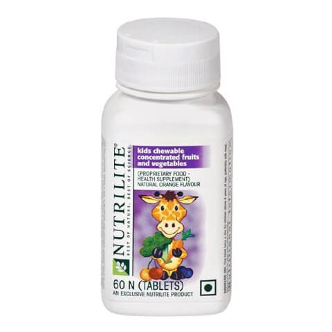 Amway Nutrilite Kids Concentrated Fruit & Vegetable,  60 chewable tablet(s)