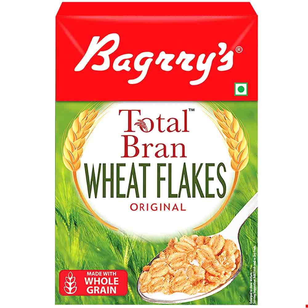 1 - Bagrrys Total Bran Wheat Flakes,  500 g  Original