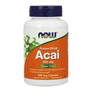 Now Acai (500 mg),  60 capsules  Unflavoured