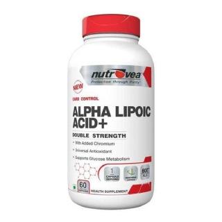 Nutrovea Alpha Lipoic Acid+ 600 mg,  60 capsules