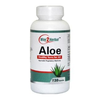 Way2Herbal Aloe,  120 capsules
