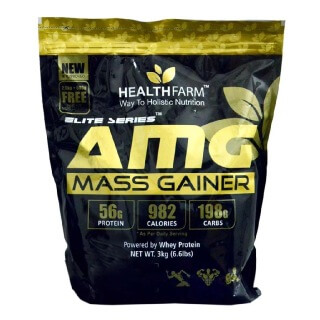 Healthfarm AMG Mass Gainer,  6.6 lb  Strawberry