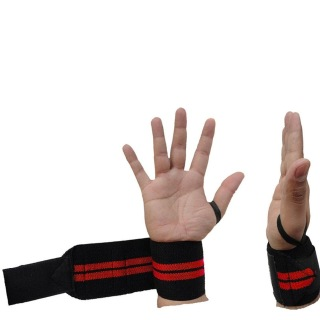 KOBO Gym Straps With Thumb Support (WTA-04),  Red  Free Size