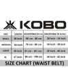 KOBO Back Support Weight Lifting Gym Belt (WTB-03),  Black  Xtra Small