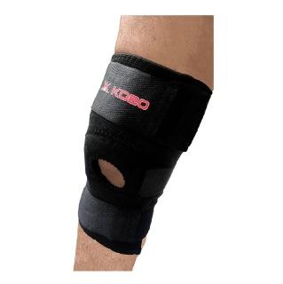 KOBO Neoprene Knee Adjustable Support (3622),  Black  Free Size