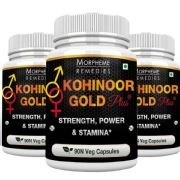 Morpheme Remedies Kohinoor Gold Plus (500 mg) Pack of 3,  90 capsules