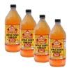 Bragg Apple Cider Vinegar - Pack of 4, 0.946 L